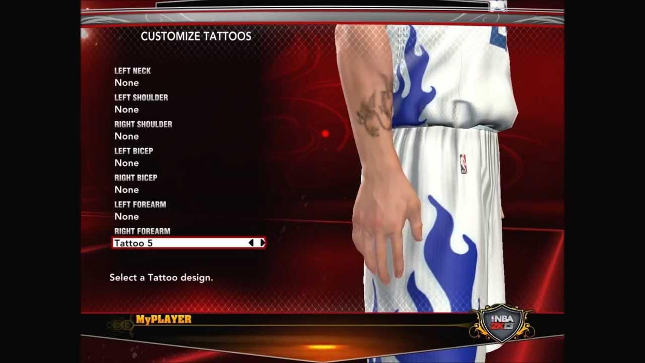 Nba 2k13 tattoos