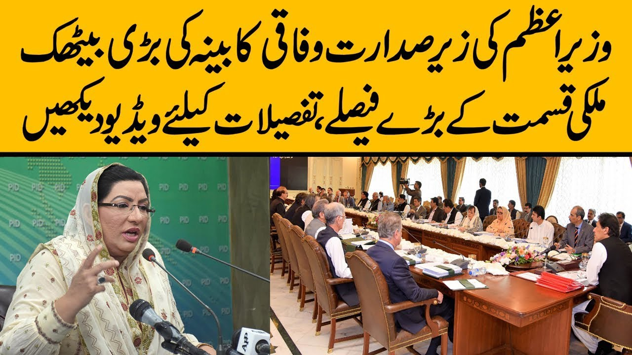 Firdous Ashiq Awan press conference after Federal Cabinet Meeting chaird by PM Imran Khan