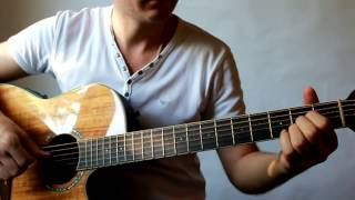 Yesterday - The Beatles - Acoustic Guitar Lesson. Урок на гитаре.