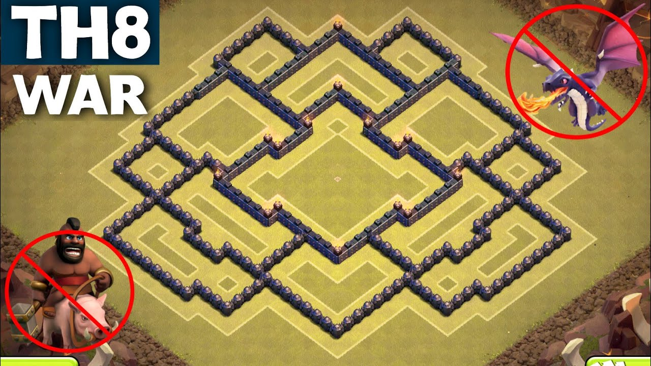 BEST TH8 WAR BASE [ANTI GOWIPE] - Town Hall 8 | ANTI ...