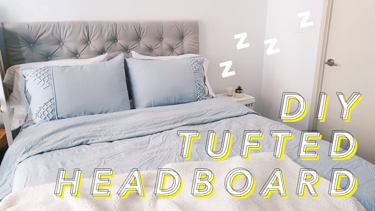 How To Make A Tufted Headboard Withwendy Youtube