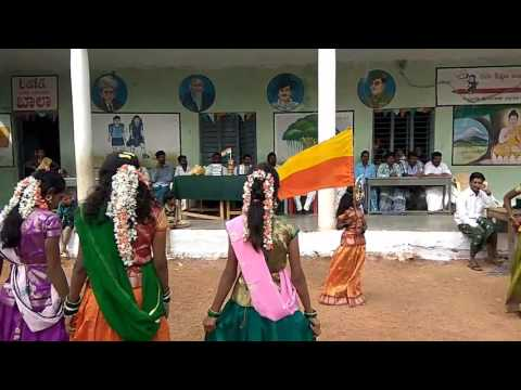 Jogada siri belakinalli dance performance at a Govt. Primary school Bachimatti