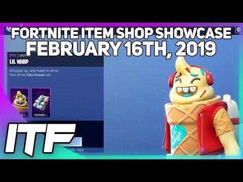 Fortnite Item Shop *NEW* LIL WHIP SKIN SET! [February 16th, 2019] (Fortnite Battle Royale)