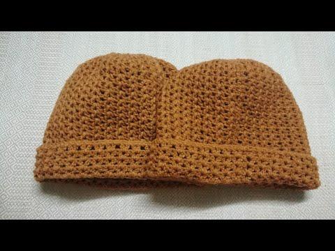 easy crochet ถักโครเชต์เป็นหมวก#ถักหมวกถวายพระ ลายที่ 6 Ep 1/2