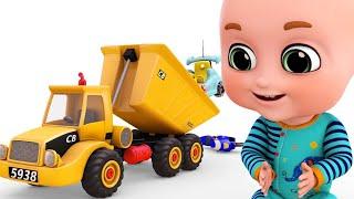 Trucks Construction for Kids - Excavator, Dump Truck, Mixer Truck - toy unboxing jugnu kid