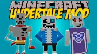 UNDERTALE MOD - Aunq no lo creas Undertale en minecraft! - Minecraft mod 1.8.9 y 1.9 Review