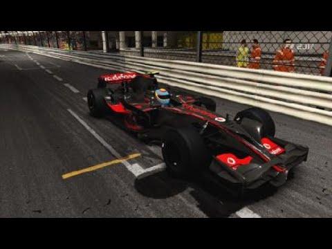F1 2017 - Monaco at Night! 2008 McLaren MP4-23 5 Lap Race