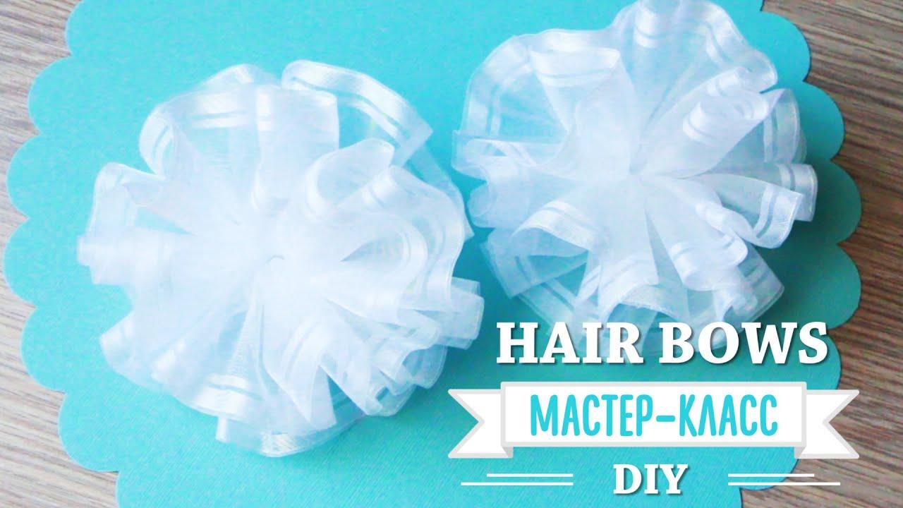 How to make HAIR BOWS / Банты на 1 сентября / DIY ...