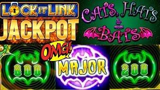 ★2 HUGE HANDPAYS★ High Limit LOCK IT LINK Cats Hats & More Bats   EUREKA Slot BIG HANDPAY    PART-3