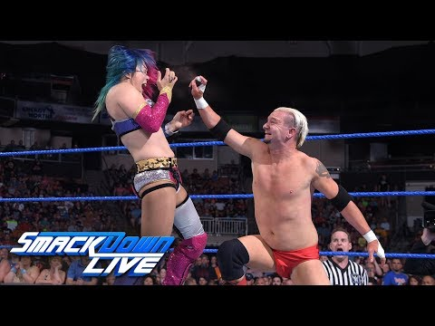 Asuka looks to punish James Ellsworth in a Lumberjack Match: SmackDown LIVE, July 10, 2018