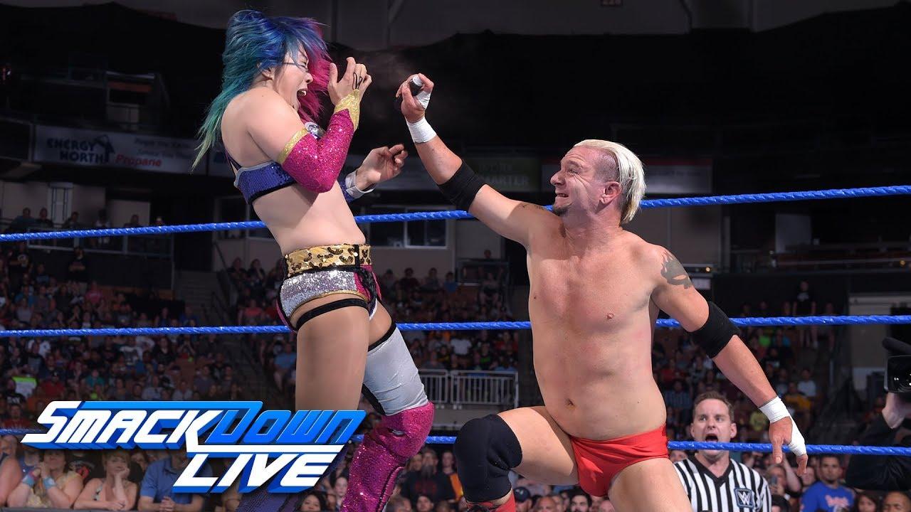 Asuka Looks To Punish James Ellsworth In A Lumberjack Match
