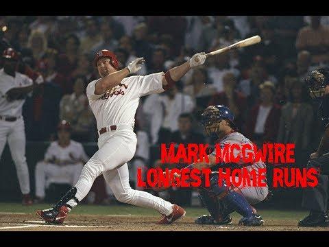 MLB: Mark McGwire Longest Home Runs