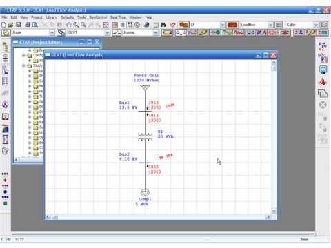 Load Flow Example 2 with ETAP 5 5 - Part 1
