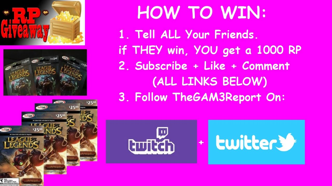 HOW TO WIN A RP GIVEAWAY