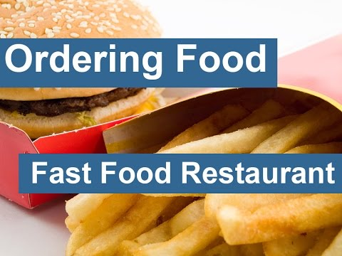 English conversation: Ordering Food - Fast Food Restaurant: Ordering Food - Fast Food Restaurant https://www.hello-english.net/2014/11/ordering-food-fast-food-restaurant.html Server: Hi, Welcome to McDonald's. Can I take your order? Customer: Yes. I would like a burger and fries. Server: What kind of burger? Customer: I'm not sure. What do you have? Server: Have a look at the menu overhead. Customer: Oh, I see. Yes. I'll have a Big Mac. Server: Do you want the combo meal? It comes with fries and a drink. Customer: Yes I'll have the combo but can I have extra pickles on my Big Mac? Server: Sure. What would you like to drink? Customer: I'll have a coke. Server: Okay. So that's a Big Mac combo, extra pickles on the Big Mac and coke to drink? Customer: Yes. Server: Would you like to upsize your fries and drink? Customer: What is upsize? Server: For an extra 50 cents you can upsize your fries and drink from a regular to a large. Customer: Sure. That sounds good. Server: Okay. That will be eight dollars and seventy cents. Customer: Sure. Can I also have extra ice in my coke? Server: Yes, I can do that. Here is your change. Would you like to donate your change to our hospital fund? Customer: No thank you. Maybe next time. Server: Okay. I'll be right back with the rest of your order. More English conversations:  Casual Introductions:  https://www.youtube.com/watch?v=ejI79FbyjjU  Ordering Food – Fast Food Restaurant:  https://www.youtube.com/watch?v=nk4GGIx-5tI  Asking Directions:  https://www.youtube.com/watch?v=ex1Tg1K8eNM  Meeting for Coffee:  https://www.youtube.com/watch?v=--ciHAy14yE  Ordering Food – Sit Down Restaurant:  https://www.youtube.com/watch?v=RCfEFSlOZ2E  Giving Directions:  https://www.youtube.com/watch?v=qbVFs0kYpnE  Requesting a Refund:  https://www.youtube.com/watch?v=AieyshkY3gk  At the Post Office:  https://www.youtube.com/watch?v=XqTVGuD1ekY  At the Market:  https://www.youtube.com/watch?v=-UlpNSXNAeY  At the Doctor:  https://www.youtube.com/watch?v=C