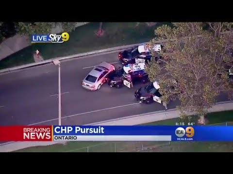 100MPH Police Chase - California Highway Patrol