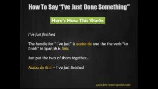 Learn Spanish: How To Say
