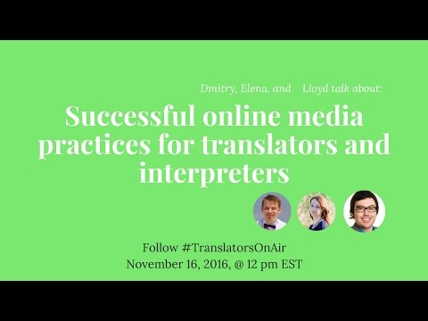#TranslatorsOnAir Successful online media practices for translators and interpreters feat  @Capital