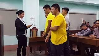 Metro Manila College Mock Trial 2017 Arraignment