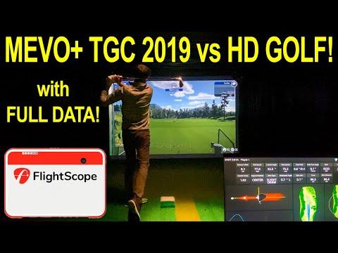 Flightscope Mevo+ TGC 2019 Vs HD Golf FULL Data Comparison