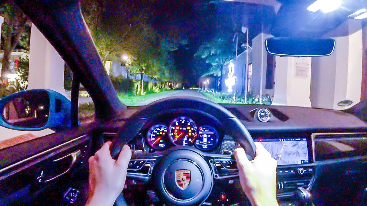 2020 Porsche Macan Turbo 440hp Night Pov Drive Onboard 60fps Youtube
