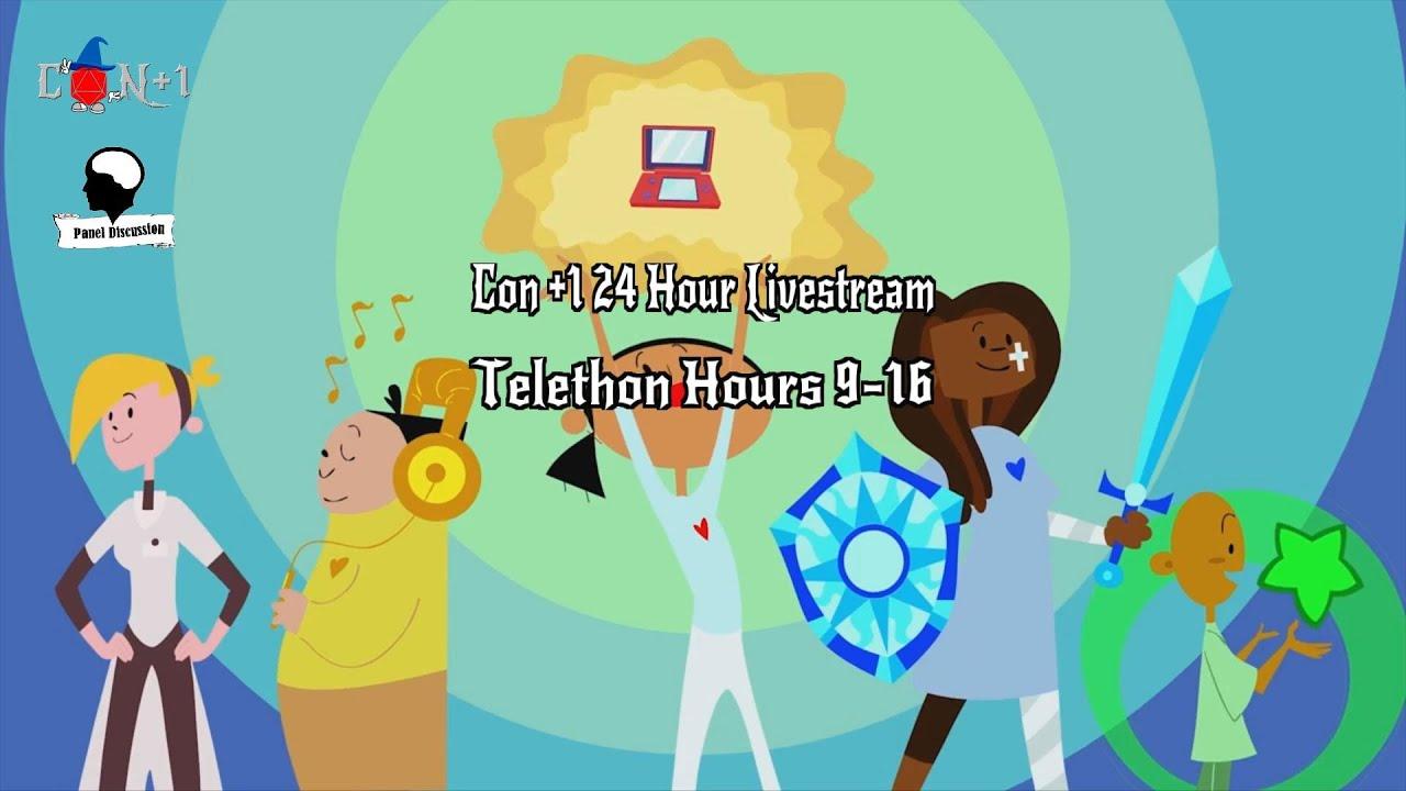 Con +1 24 Hour Livestream Telethon Hours 9-16