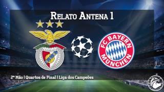 BENFICA 2 - 2 Bayern | Relato dos golos e momentos finais (Antena 1)