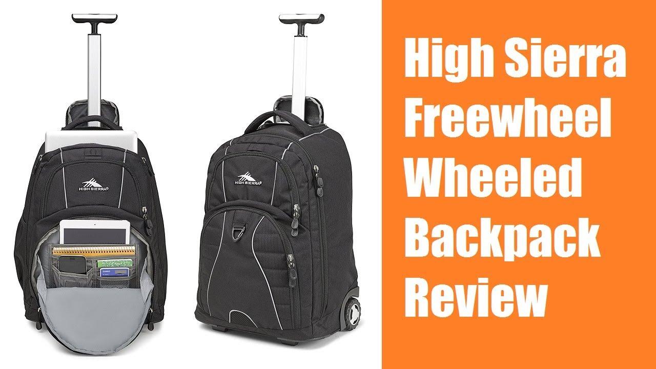 High Sierra Freewheel Wheeled Backpack Review