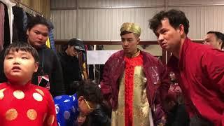 Táo Quân 2018 -  Bé Bi đáng yêu phản bác Trung Ruồi trong hậu trường Táo Quân
