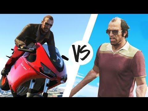 GTA 4 vs GTA 5 | WDF 85 | Приколы в играх