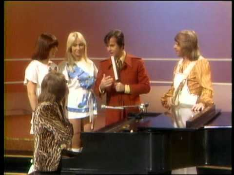 Dick Clark Interviews  ABBA - American Bandstand 1975
