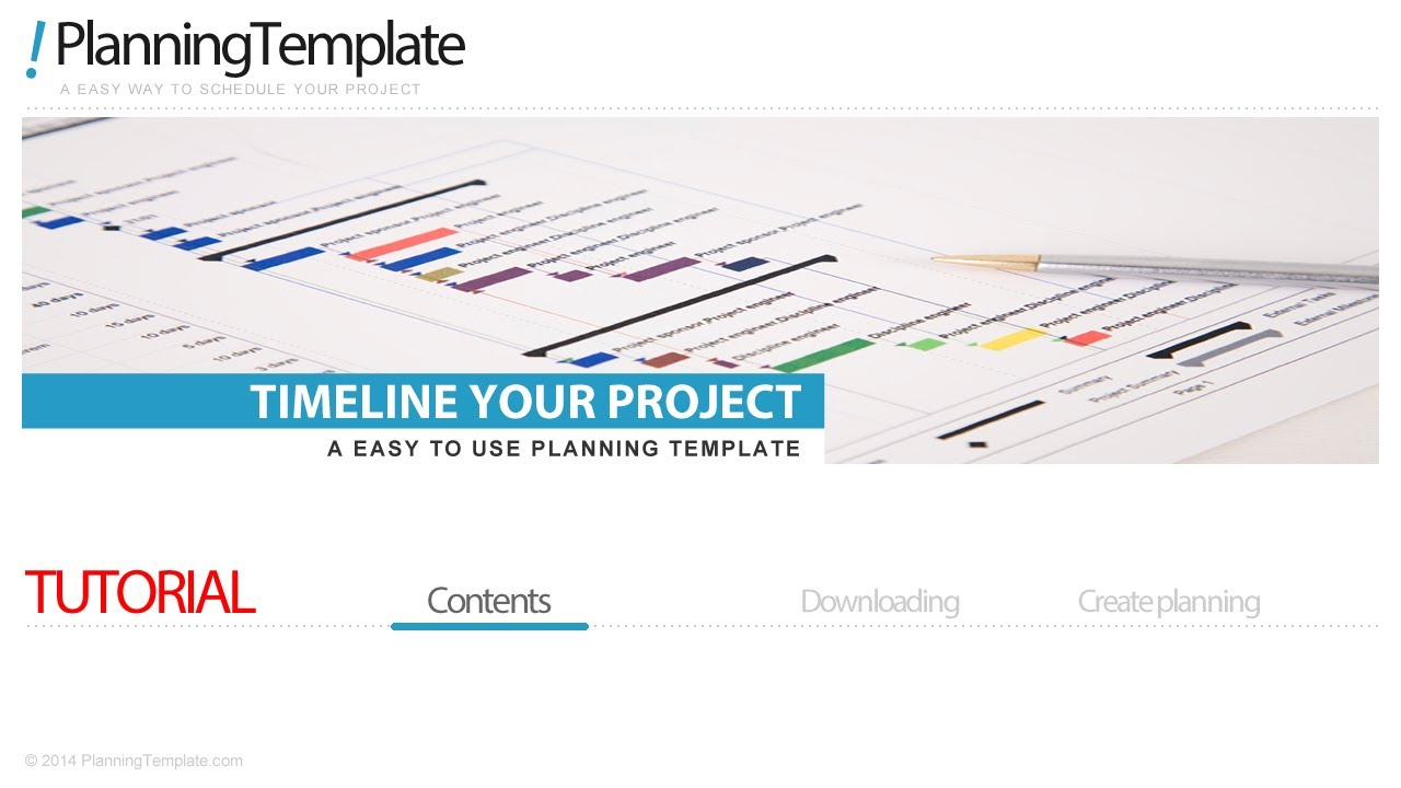 Project Timeline Template In Excel YouTube - Excel 2010 project timeline template