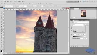 Создаём в Adobe Photoshop коллаж с замком на холме #1