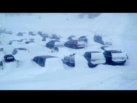 BLIZZARD CONDITIONS:  Winter storm hammers Mammoth Ski Area (MMSA Video)