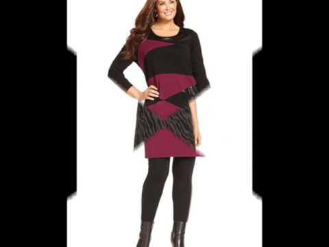 Модные вязанные платья для полных девушек и женщин
