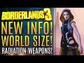 Borderlands 3 - New Updates! World and Map Sizes! New Radioactive Weapons! New Gameplay Info!