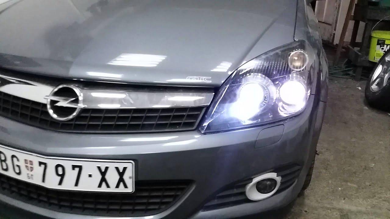 SW-LED Angel Eye Scheinwerfer Black Opel Astra H LED Lighttube SW .