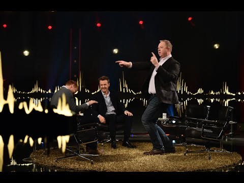 Anders Jansson dansar som Carl Bildt | SVT/NRK/Skavlan