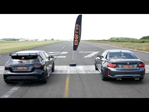 DRAG RACE! BMW M2 VS MERCEDES A45 AMG!
