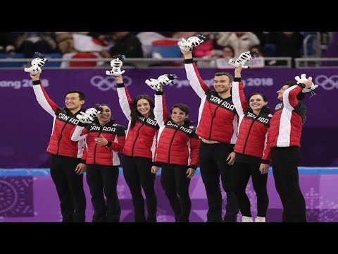 Olympic Figure Skating: Canada showed the best and easily takes the team's gold medal.