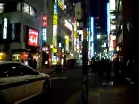 Japan downtown Tokyo after sake