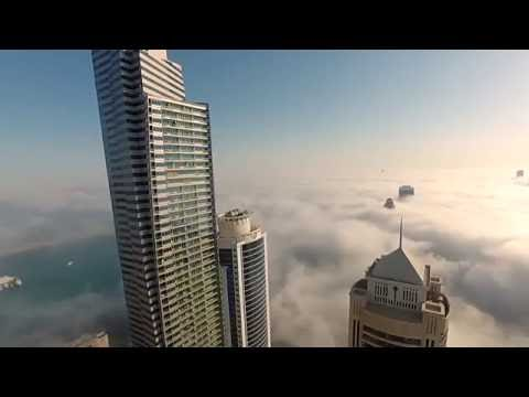Watch Daredevil jumps from Dubai Marina skyscraper in terrifying stunt   Khaleej Times