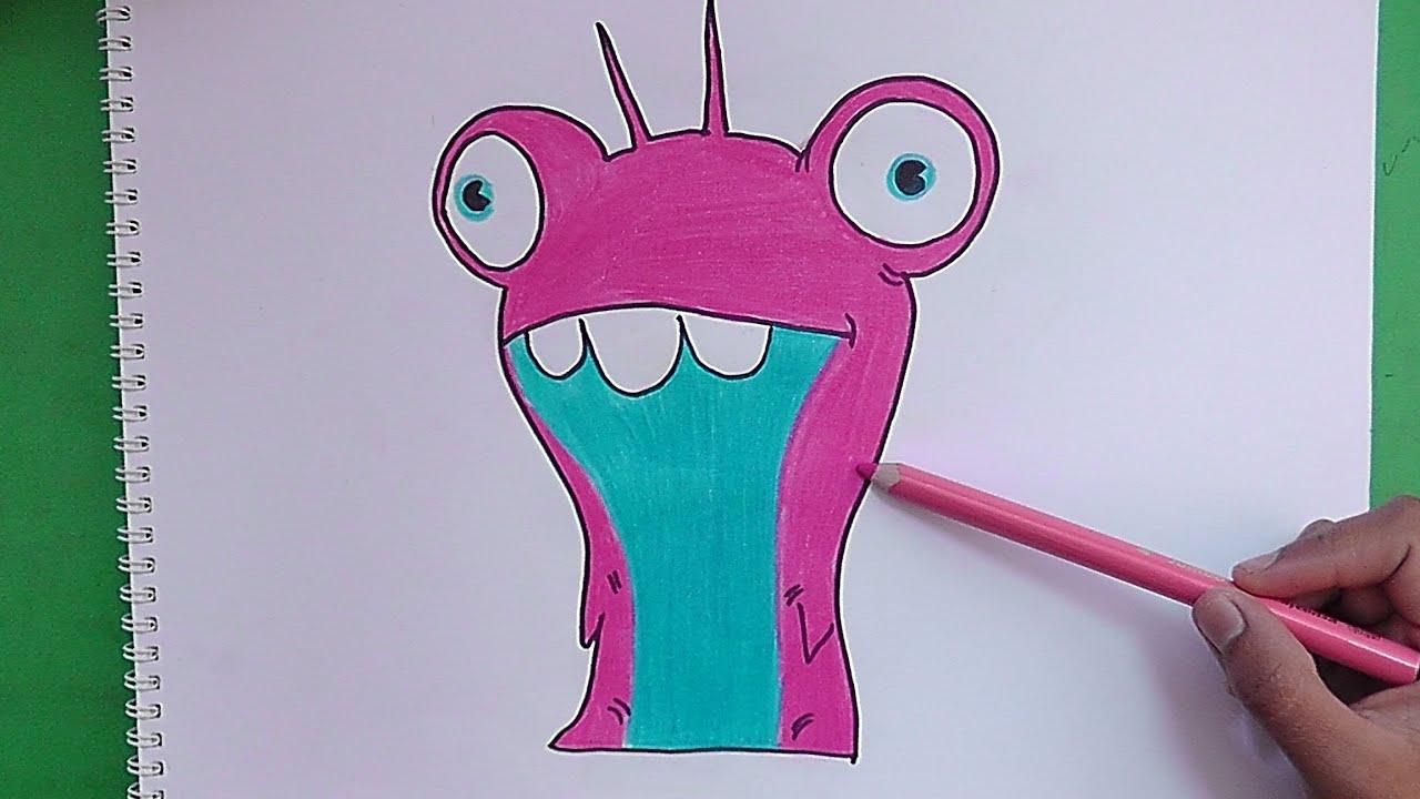 Dibujando y pintando a Babosa Burbuja (Bajoterra) - Drawing and ...