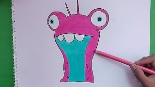 Dibujando y pintando a Babosa Burbuja (Bajoterra) - Drawing and painting to slug Bubble