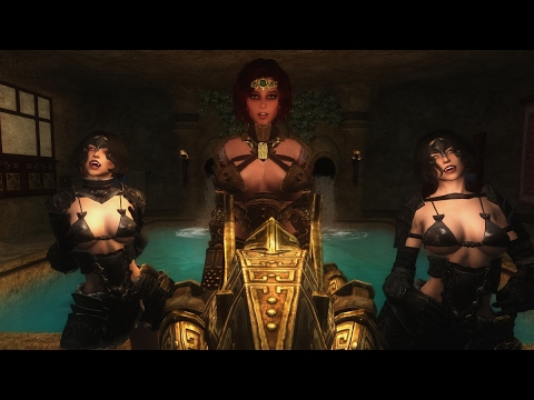Skyrim Mod Review - Velothi Palace, Serana & Claire and Dwemer Dogs