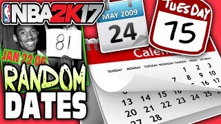 Drafting players using random calendar dates! nba 2k17 squad builder