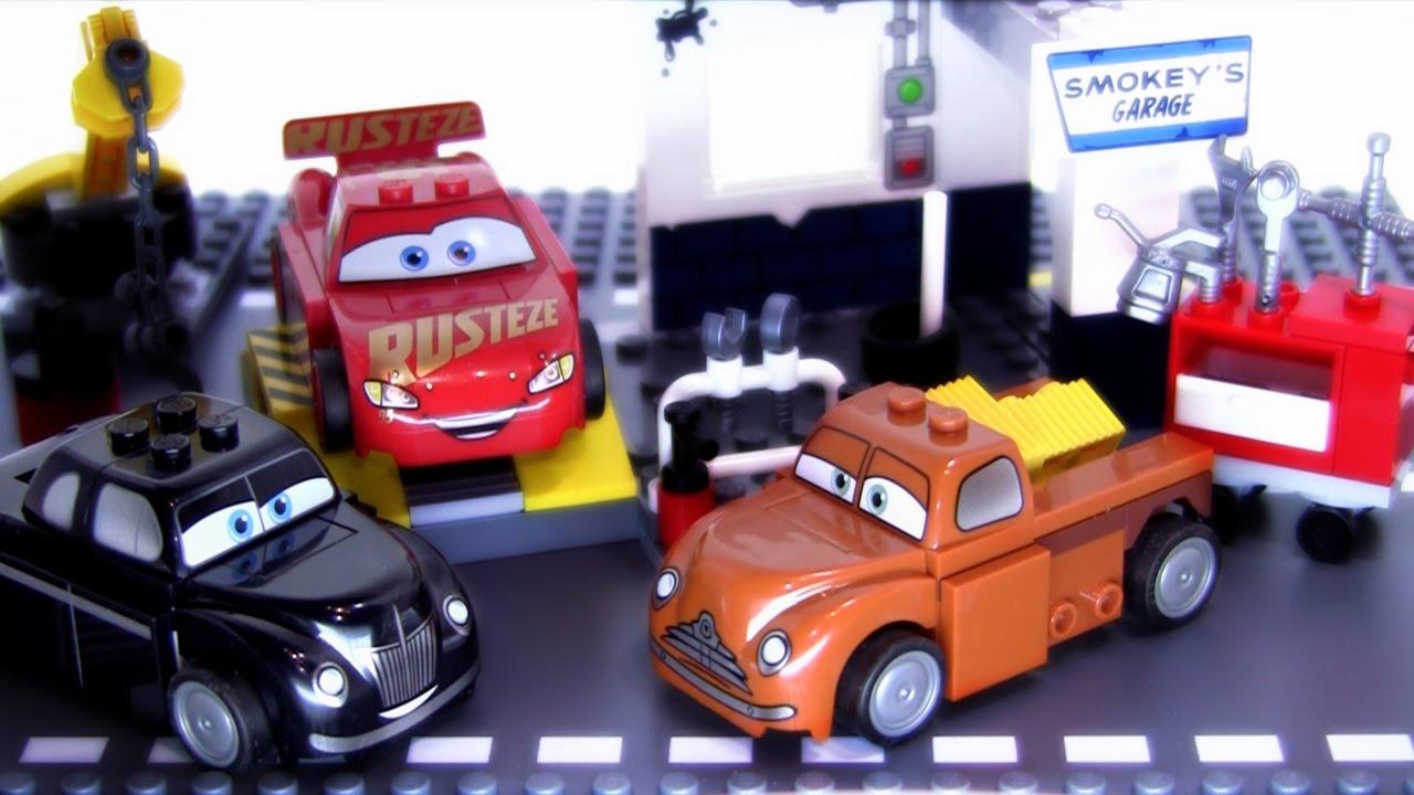 Smokey S Garage Lego Cars 3 Set 10743 Stop Motion Build Youtube