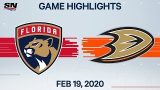 NHL Highlights | Panthers vs Ducks - Feb. 19, 2020