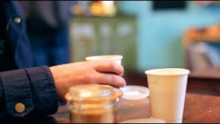Man drinking Coffee in a Cafe - Free Stock Video Download - Free Stock Video Footage