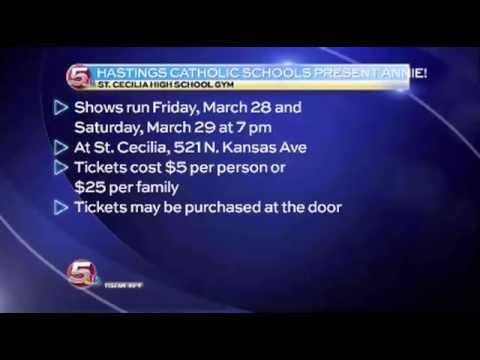 News 5 at 11:30 - Hastings Catholic Schools Present ANNIE! / March 26, 2014